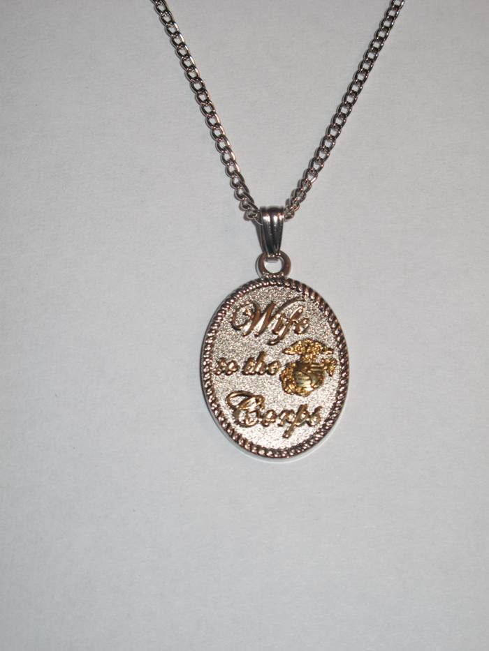 Wife to the Corps Necklace