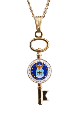 Air Force Key Necklace