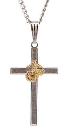 Marine EGA Cross Necklace